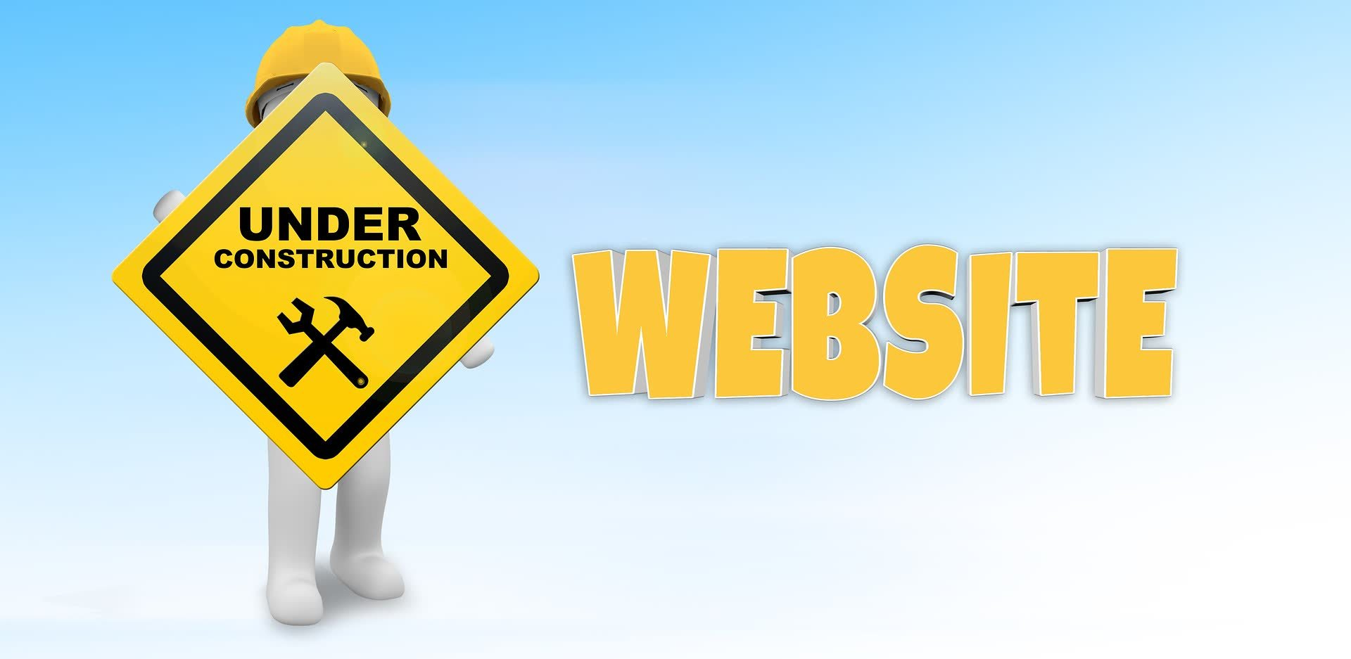 Foto che rappresenta un sito web in costruzione